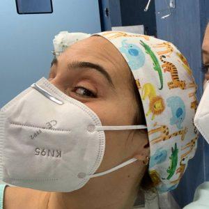 Touca cirúrgica . touca para profissionais de saúde